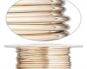 14Kt Gold Filled Half Hard 12 Gauge Round Wire 5 Feet Jewelry Supplies Findings