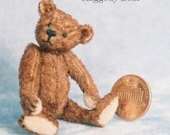 Raggedy Bear Miniature Teddy Bear Kit - Pattern - by Emily Farmer