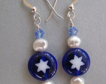 Star of David Earrings Judaica