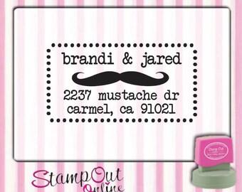 Return address custom rubber stamps self inking --9982