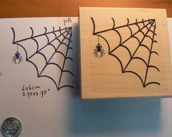 Spiderweb rubber stamp WM P8
