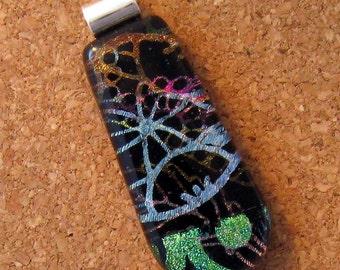 SALE Fused Dichroic Glass Pendant - Glass Pendant - Glass Jewelry - Fused Glass - Dichroic Jewelry
