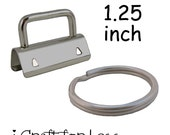 50 Key FobHardware with Key Rings Sets - 1.25 Inch (32 mm) - Plus Instructions - SEE COUPON