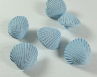 Light Blue Sea Shell Novelty Buttons