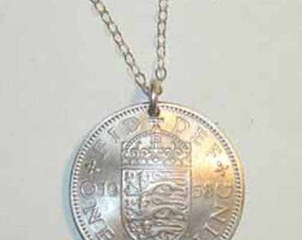 Coin necklace~British English Arms necklace-free shipping
