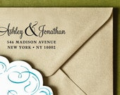 "CUSTOM ADDRESS STAMP - Eco Friendly & self inking return address stamp, personalized stamper,  custom rsvp address stamp ""stamp 93"""