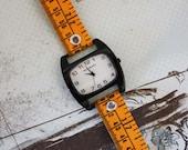 Tape Measure Watch in Orange