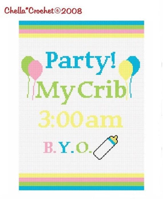 INSTANT DOWNLOAD Chella Crochet Baby Party My Crib BYOB Afghan Pattern Graph Chart 100st .pdf