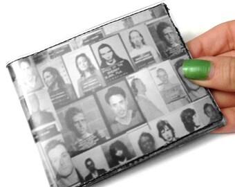 Celebrity Mugshots Mens or Womens Bifold Vinyl Wallet