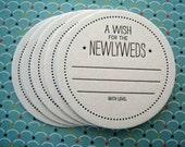 Letterpress Coaster Set - wish for the newlyweds (set of 30)