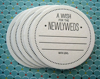 Letterpress Coaster Set - wish for the newlyweds (set of 30)