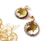 Earrings Gold Plated over Brass Body with .925 Sterling Silver Post  Moon