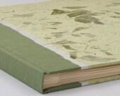 Scrapbook Album Sage Mango Leaf-Scrapbook Album, Art Journal, Guest Book, Wedding Photo Album, Memorial Guest Book