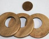 Sale 10pcs of Wood Go Go beads 45mm  Walnut color
