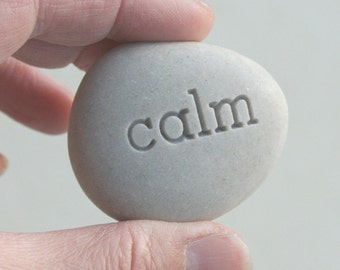 Mini pocket stones, comfort stones, worry stones, - personalized engraved smooth stones