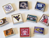 50% OFF TODAY ONLY!...Custom Team Floating Charms, fits any brand of locket necklaces...choose any nba, nfl, mlb, nhl or college team