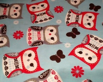 Last pair.. FANCY OWL  flannel lounge pants/pajama pants children's sizes 0-3 months to size 8