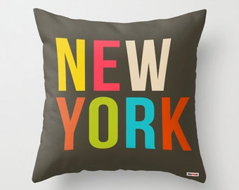New York Decorative throw pillow cover -  Modern pillow cover - Designer pillow case - state pillow case - America pillow cover