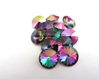 6 Crystal Electra Swarovski Crystal Rivoli Stone 1122 39ss 8mm