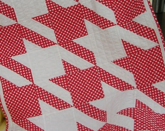 Small Modern Red Polka Dot Quilt-Free Shipping