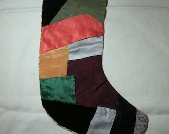 vintage crazy quilt christmas stocking