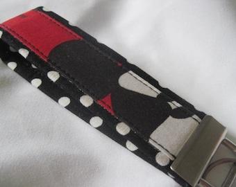 Fabric Key Fobs -  Fabric Keychain - Key Wristlet - Key Fob - Angry Mickey Mouse