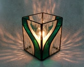 Candle Holder - Stained Glass (G1275 - Teal)