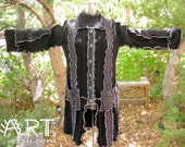 After Midnight Black Gray Recycled Sweater Coat Plus Size 1x 2x