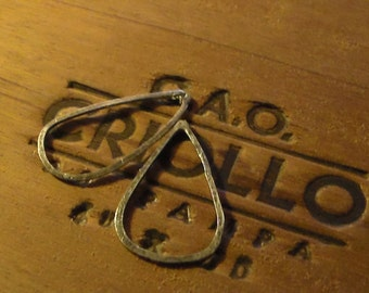 Handforged Sterling Silver Teardrop Components