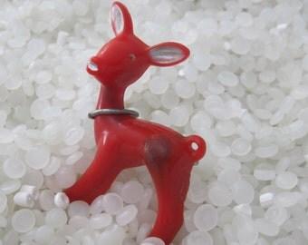 vintage  pin , lapel pin little red deer