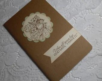 Faith Journal - Encouragement - Moleskine Kraft Cahier - Prayer Notebook