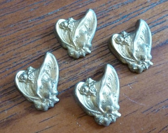 Clearance 10 Vintage Bonnet Lady Girl Stampings C6