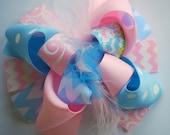 boutique MINI mod EASTER BUNNY hair bow clip