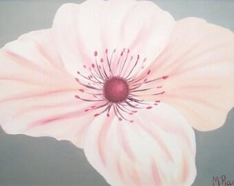 Pink Pansie Oil Painting