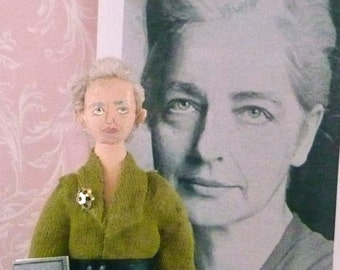Ruth Benedict Doll Art Miniature Historical Character