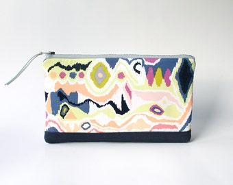 Southwestern Clutch Purse, Tribal Cosmetic Bag, Gift for Women