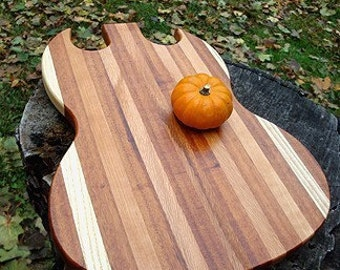 Personalized Laser Engraved Groomsmen Gift Qty 10 Guitar Shaped Cutting Boards Serving Trays - Custom Engraved Wedding Gift Wholesale