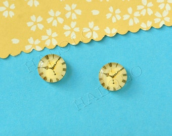 Sale - 10pcs handmade old clock clear glass dome cabochons 12mm (12-1024)