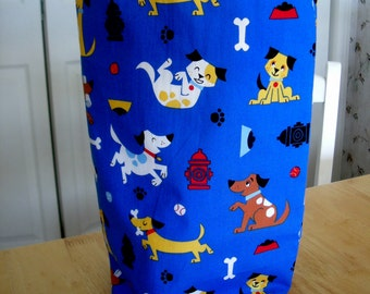 Knitting Project Bag   Dogs KIP BAG  A -31  Tall size