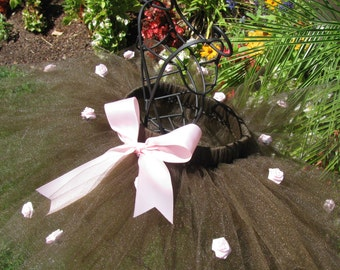 Pink and Brown Rose Tutu with Bow