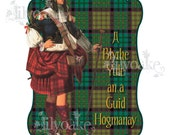 Tartan Baronial Holiday Panel Card