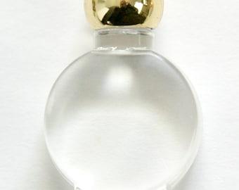 Vintage Miniature Clear Acrylic Faux Perfume Bottle Pendant Charm pnd114B