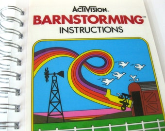 Vintage Atari Barnstorming Notebook // Activision Instructions