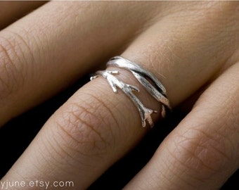 Twisty Twig Ring Set | Stacking Rings | Nature Inspired Rings