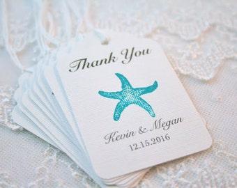 Beach Seashell Favor Tags Wedding Tags White / Black