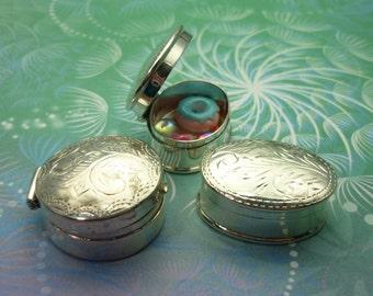 Sterling Silver Keepsake Box - Oval