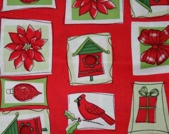 Christmas Cardinal Cotton Fabric