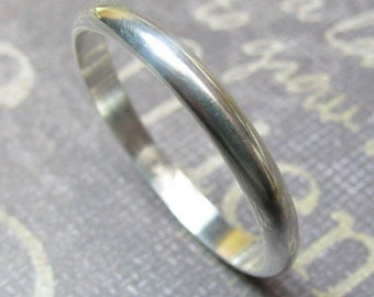 TRADITIONAL Silver 2mm, 3mm, 4 mm // Men's Wedding Ring // Women's Wedding Ring // Men's Wedding Band // Women's Wedding Band // Unique