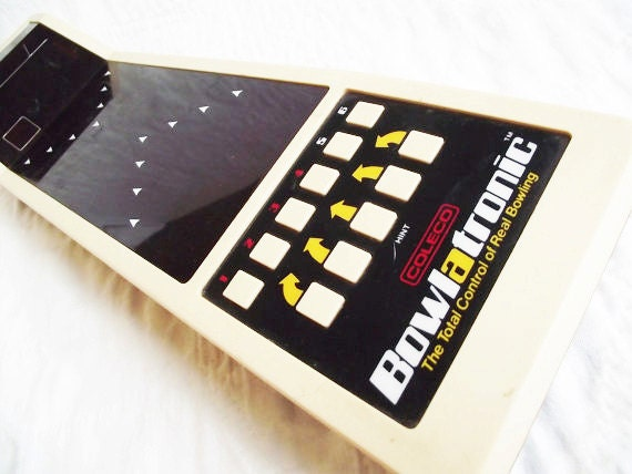 Vintage Coleco Bowlatronic Handheld 1980s Game