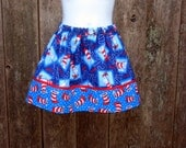 Blue Cat in the Hat 2 girls Skirt, Last one, Size 5